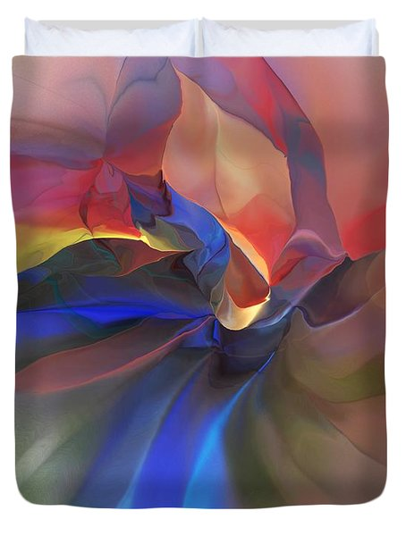 Duvet Cover featuring the digital art Abstract 121214 by David Lane