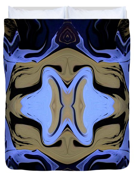 Abstract 161 Duvet Cover by J D Owen