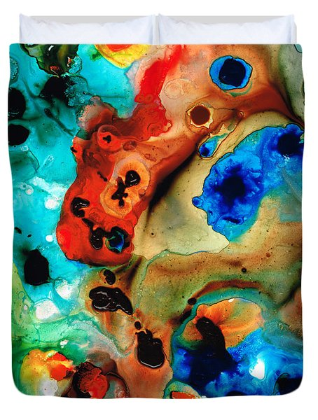 Abstract 4 - Abstract Art By Sharon Cummings Duvet Cover by Sharon Cummings