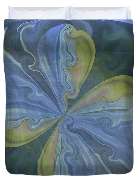 Abstract A023 Duvet Cover by Maria Urso