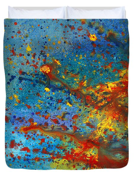 Abstract - Acrylic - Just Another Monday Duvet Cover by Mike Savad