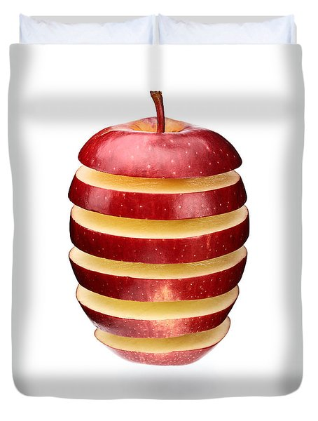 Abstract Apple Slices Duvet Cover