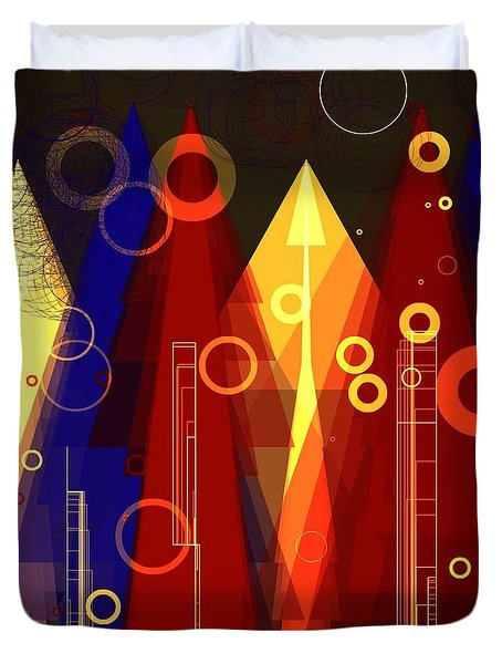 Abstract Art Deco Duvet Cover