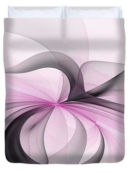 Abstract Art Fractal With Pink Duvet Cover by Gabiw Art