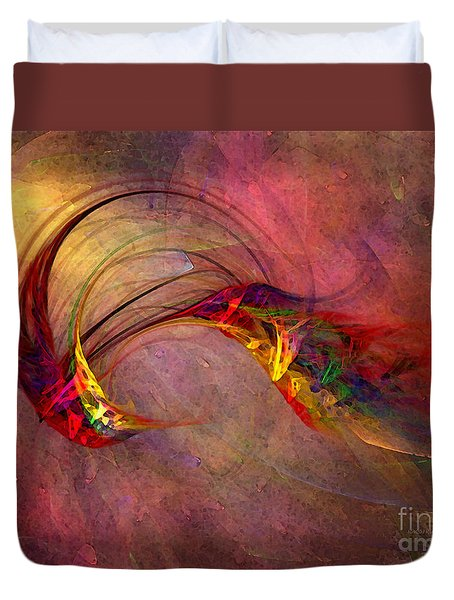 Abstract Art Print Hummingbird Duvet Cover