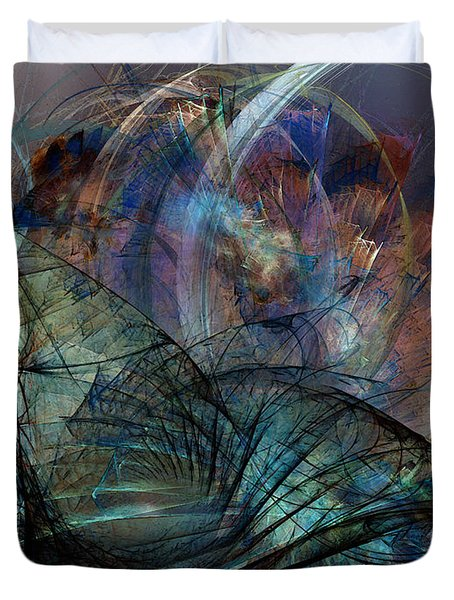 Abstract Art Print In The Mood Duvet Cover