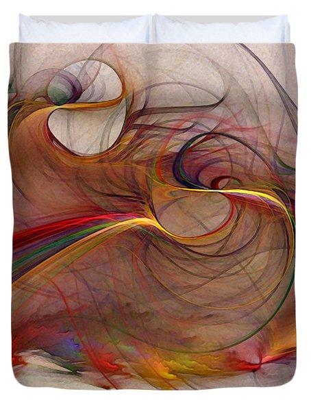 Abstract Art Print Inflammable Matter Duvet Cover