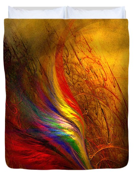 Abstract Art Print Sayings Duvet Cover