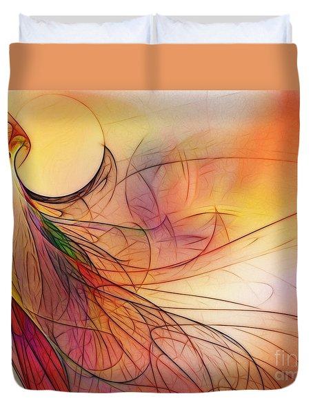 Abstract Art Print Sunday Morning Sidewalk Duvet Cover