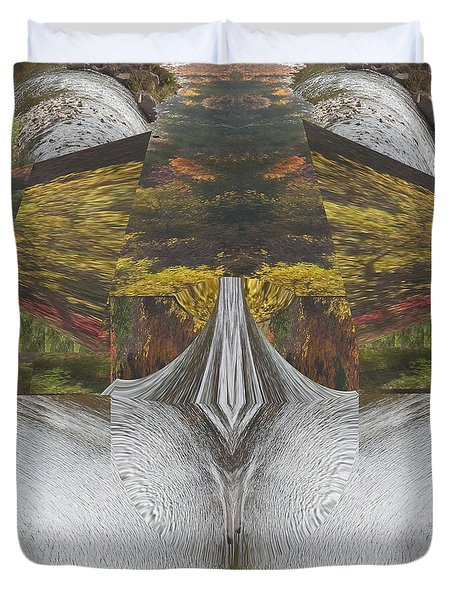 Abstract Art Shemale Treetrunk Nature Natural Eyes Breast   Graphic Artistic Conversion Of Photograp Duvet Cover
