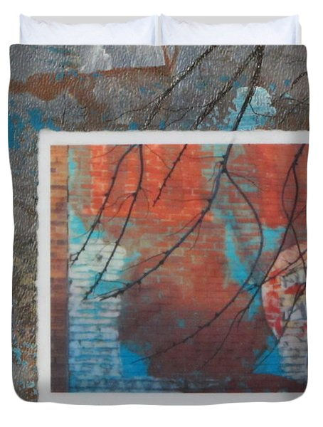 Abstract Branch Collage Duvet Cover by Anita Burgermeister