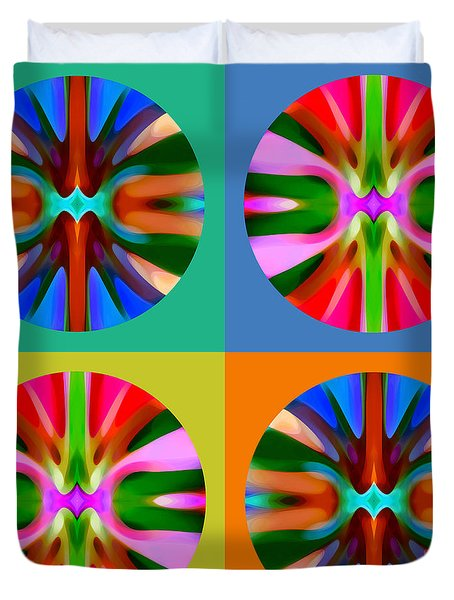 Abstract Circles And Squares 4 Duvet Cover by Amy Vangsgard