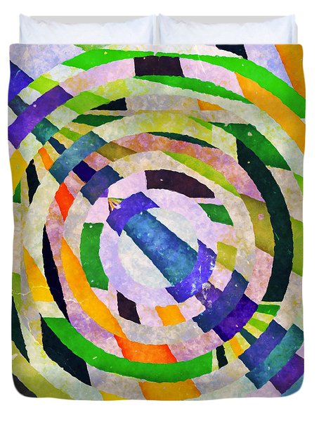 Abstract Circles Duvet Cover