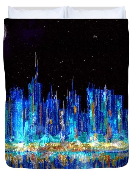 Abstract City Skyline Duvet Cover