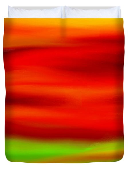 Abstract Colors Duvet Cover by Anita Lewis