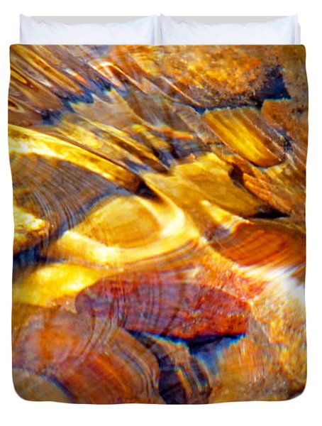 Abstract Creek Water 4 Duvet Cover