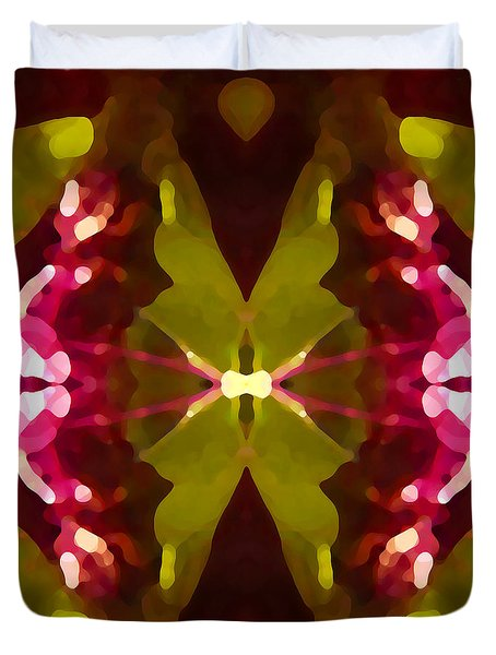 Abstract Crystal Butterfly Duvet Cover by Amy Vangsgard