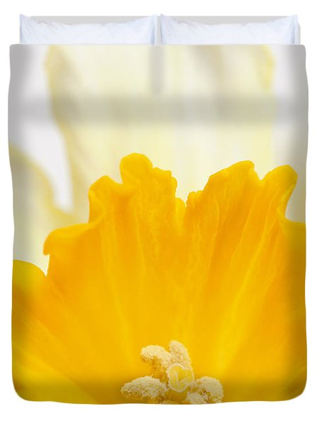 Abstract Daffodil Duvet Cover