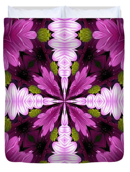 Abstract Daisies Duvet Cover