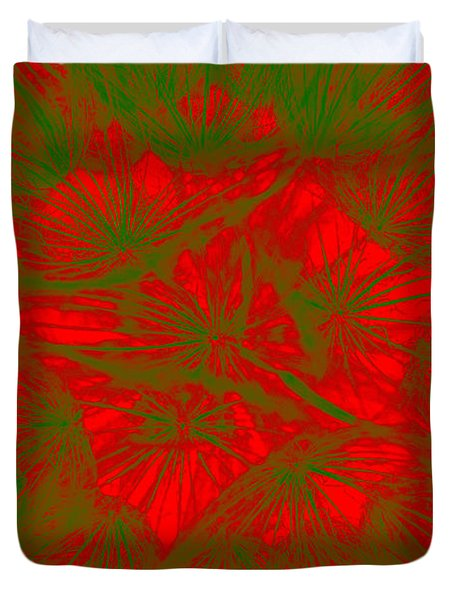 Duvet Cover featuring the photograph Abstract Dandelion Bloom by Mae Wertz