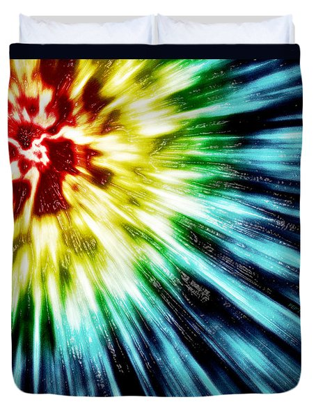 Abstract Dark Tie Dye Duvet Cover