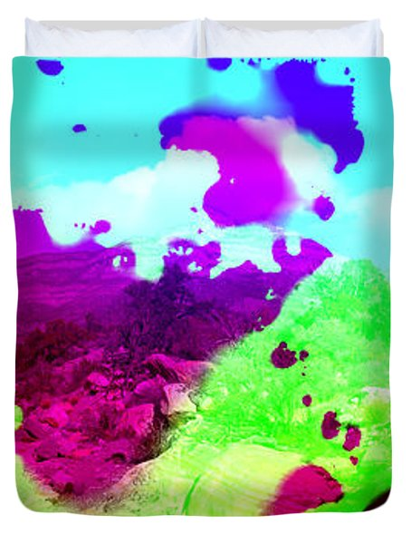 Abstract Desert Scene Duvet Cover by Alan and Marcia Socolik