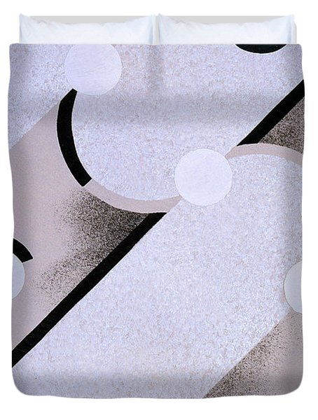 Abstract Design From Nouvelles Compositions Decoratives Duvet Cover by Serge Gladky