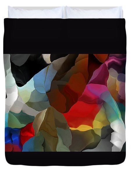 Duvet Cover featuring the digital art Abstract Distraction by David Lane