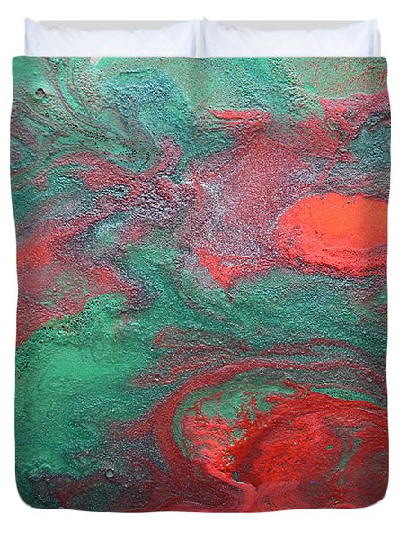 Abstract Evergreen Duvet Cover
