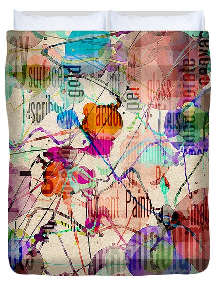 Duvet Cover featuring the digital art Abstract Expressionism by Phil Perkins