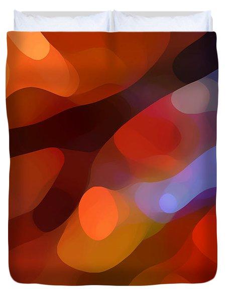 Abstract Fall Light Duvet Cover by Amy Vangsgard
