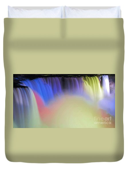 Abstract Falls Duvet Cover by Kathleen Struckle