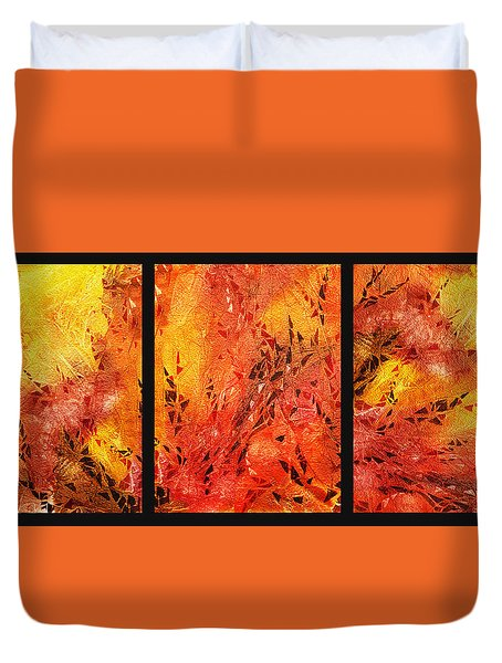 Abstract Fireplace Duvet Cover
