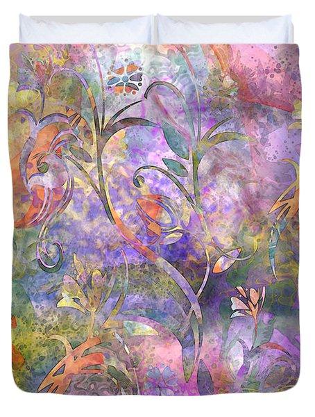 Abstract Floral Designe  Duvet Cover by Debbie Portwood