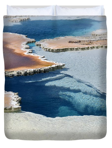Abstract From The Land Of Geysers. Yellowstone Duvet Cover
