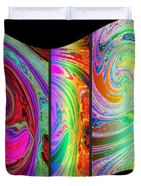 Abstract Fusion 184 Duvet Cover