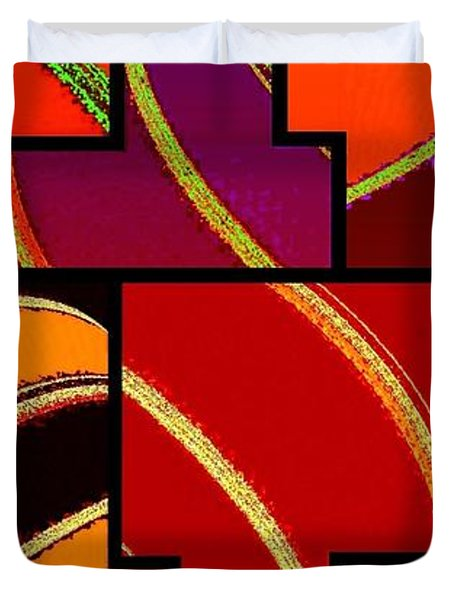 Abstract Fusion 232 Duvet Cover