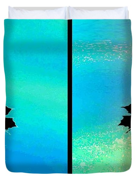 Abstract Fusion 243 Duvet Cover