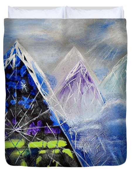 Abstract Glass Mountain Duvet Cover