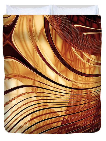 Abstract Gold 2 Duvet Cover