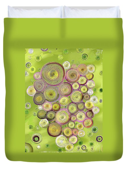 Abstract Grapes Duvet Cover