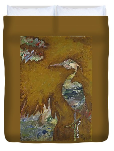 Abstract Heron Duvet Cover