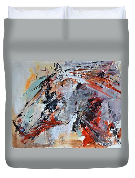 Abstract Horse 1 Duvet Cover