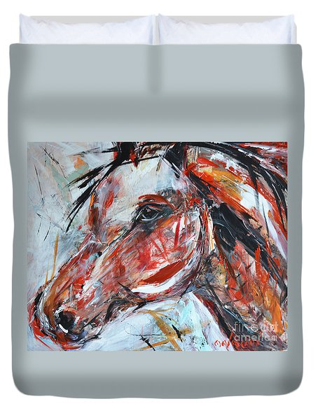 Abstract Horse 2 Duvet Cover