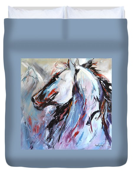Abstract Horse 5 Duvet Cover