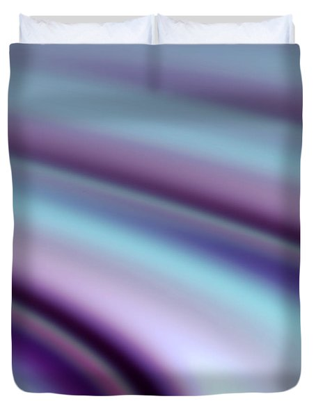 Duvet Cover featuring the digital art Abstract Hues by Liz  Alderdice