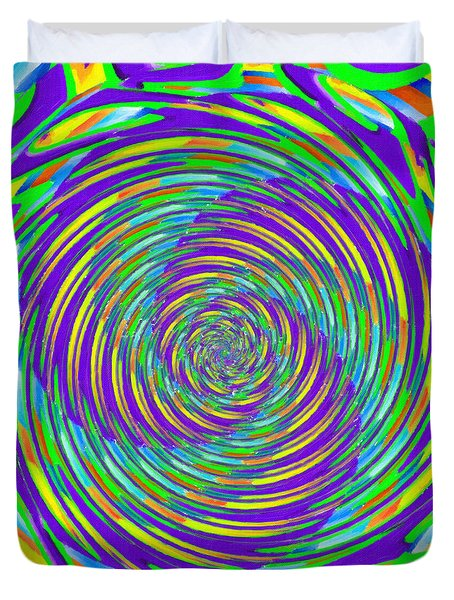 Abstract Hypnotic Duvet Cover by Kenny Francis