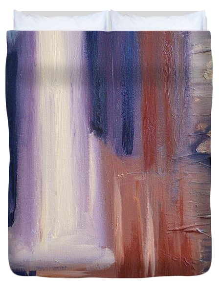 Duvet Cover featuring the painting Abstract I by Donna Tuten