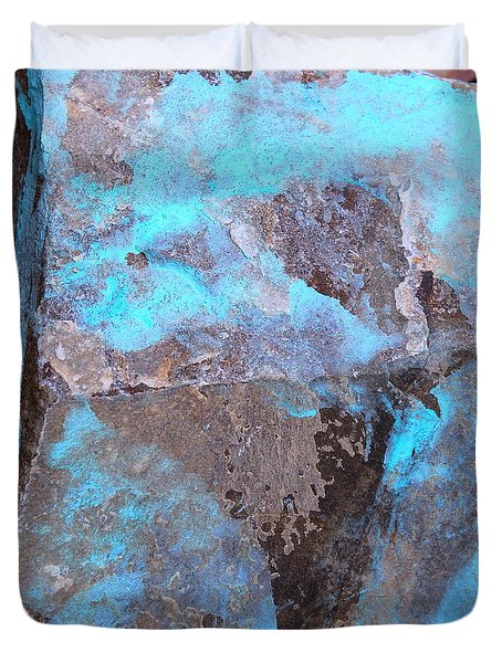 Duvet Cover featuring the photograph Abstract In Blue by M Diane Bonaparte