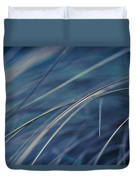 Duvet Cover featuring the photograph Abstract In Blues. by Clare Bambers